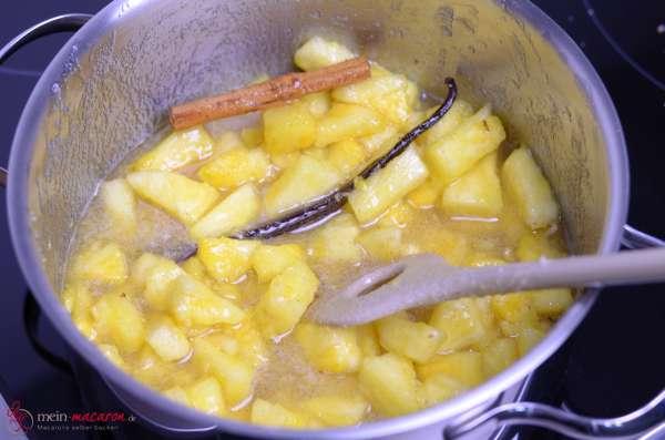 rezept und anleitung f r eine weihnachtliche ananaskonfit re macarons bunt und lecker. Black Bedroom Furniture Sets. Home Design Ideas