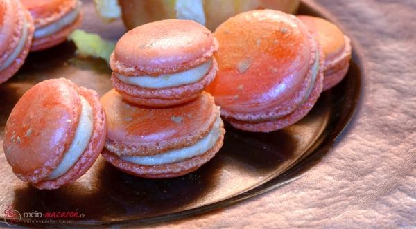 macarons mit bratapfelcreme macarons rezepte zum selber backen. Black Bedroom Furniture Sets. Home Design Ideas
