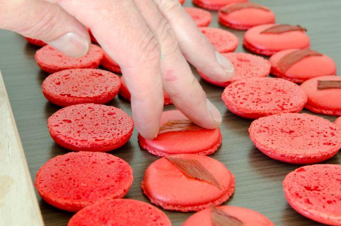 macarons mit erdbeer rhabarber mousse macarons rezepte zum selber backen. Black Bedroom Furniture Sets. Home Design Ideas
